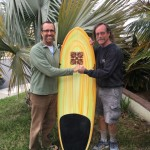 "Finely foiled 5'10"" Pendoflex arch tail quad for Mr. R"