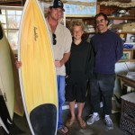 Chapman, Ricky and SP with Chappy's new board