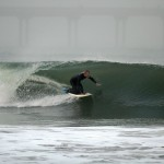George Barnes ripping a glassy left on his Pendoflex Sting