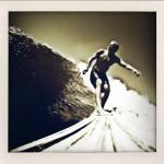 Jack Davis, Pendoflex longboard, self portrait