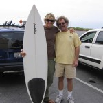 Steve and Jamie Mitchell with Jamie's board