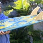 Steve's hollow foil fins on the Pendoflex Mako