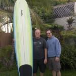 Troy Boy's sweet nine foot longboard