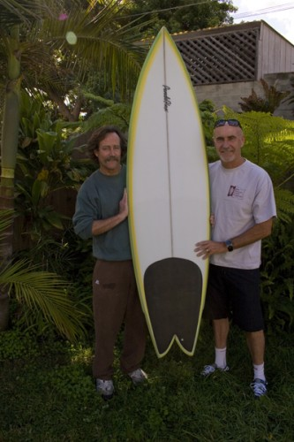 Mike and Steve with the new 6'8 single wing swallow