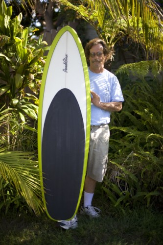 Steve with the round tail single fin