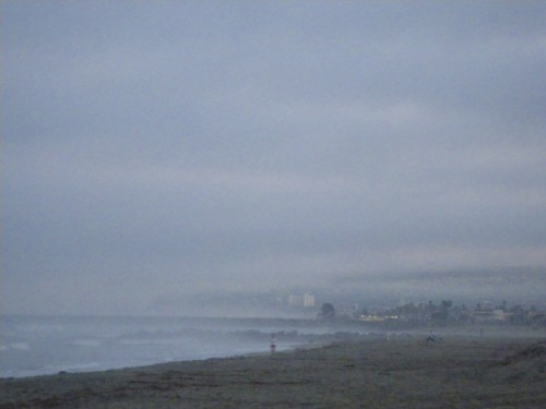 Foggy morning at Ocean Beach