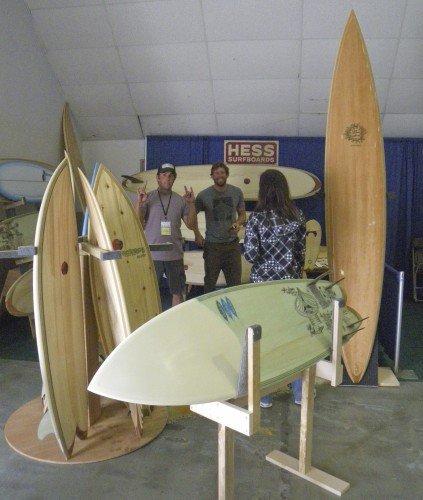 The Hess surfboards booth