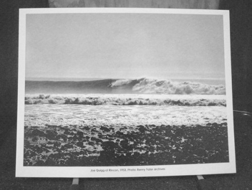 Joe Quigg surfing Rincon in 1953, Reynolds Yater archives