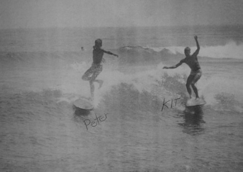 Young Kit and Peter, surfing and stoked!