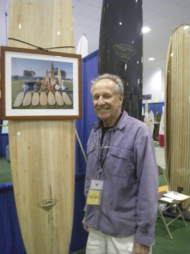 Grandmaster shaper Renny Yater with a beautiful balsa board
