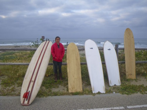 Rosa with the beautiful Wegner boards