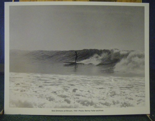 Bob Simmons surfing Rincon, 1947, Reynolds Yater archives