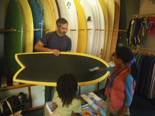 The very kind Mr. Gentile explained the Rubber Ducky to the kids in the shop